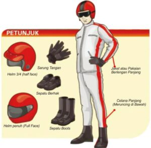 materi safety riding perlengkapan safety riding pengertian safety riding